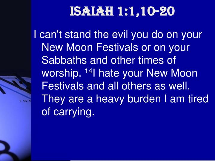Isaiah 1:1,10-20