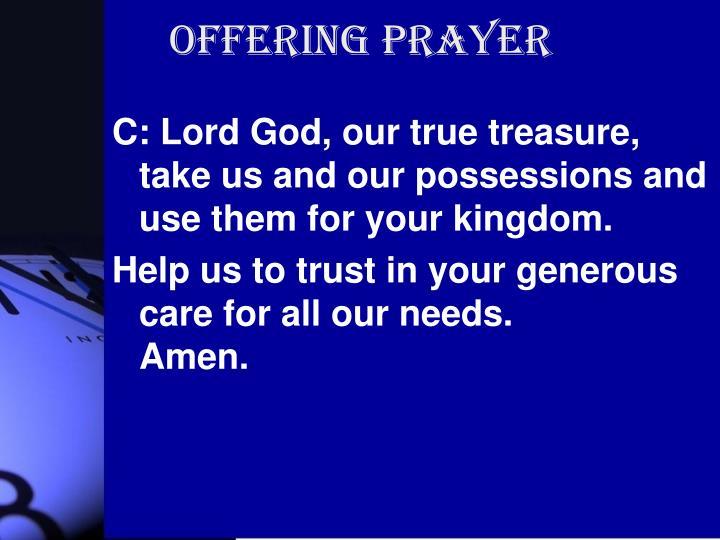 Offering Prayer