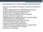 anticipated k 5 technology improvements