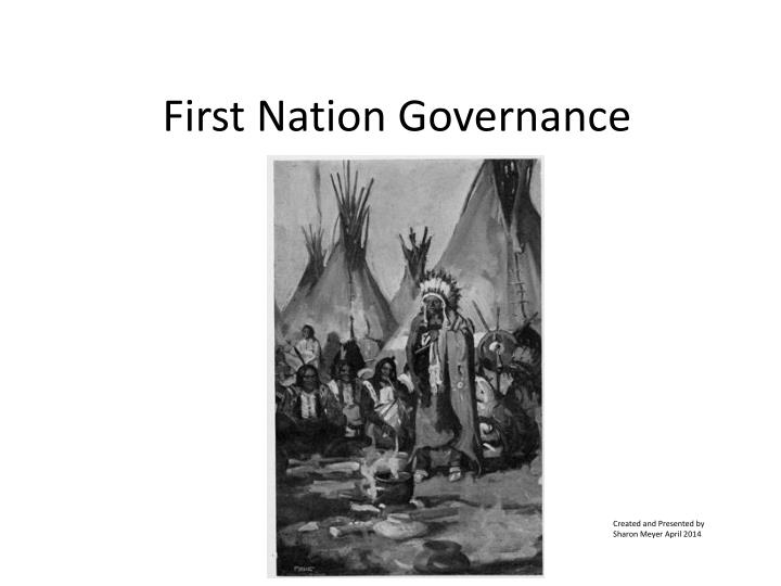 First nation governance