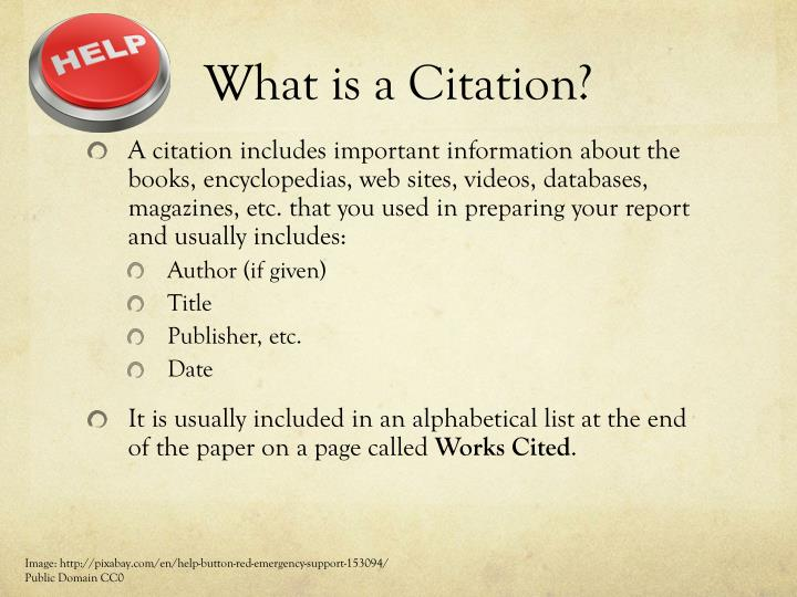 What is a citation
