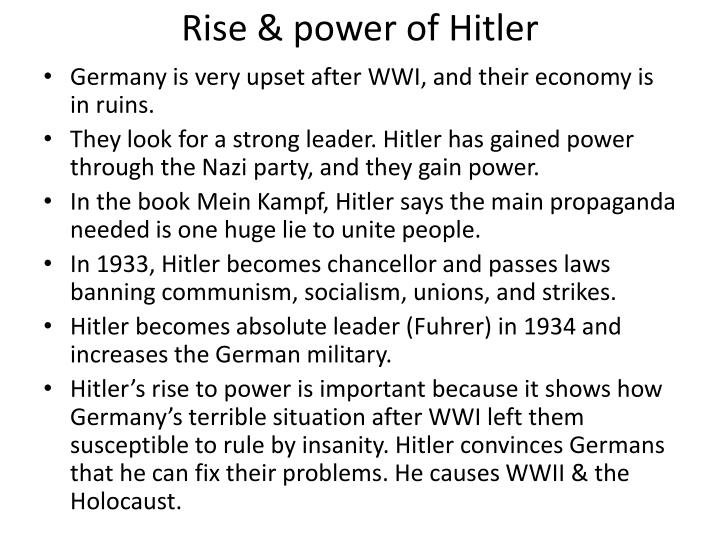 Rise & power of Hitler