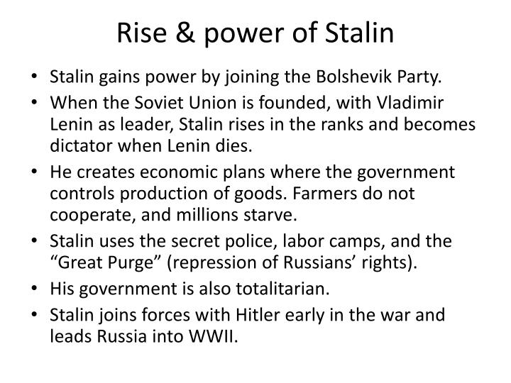 Rise & power of Stalin