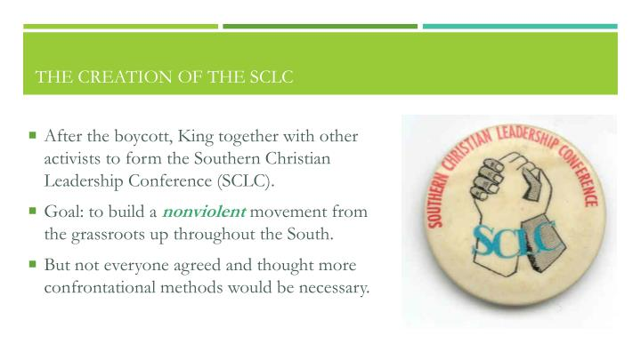 The Creation of the SCLC