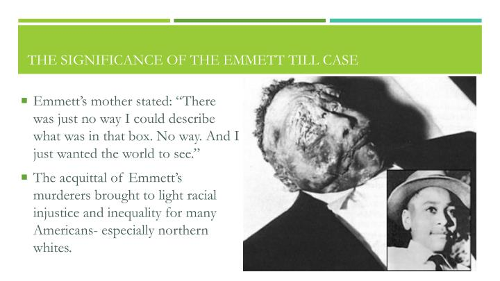 The Significance of the Emmett Till Case