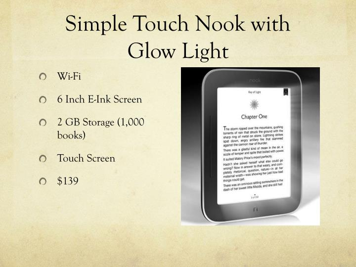 Simple Touch Nook with Glow Light