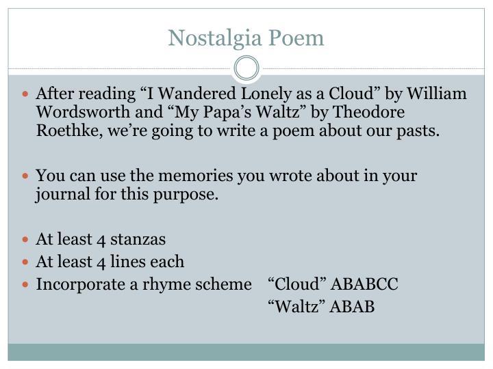 Nostalgia Poem