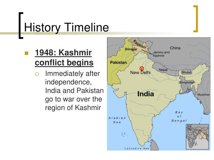 1948: Kashmir conflict begins