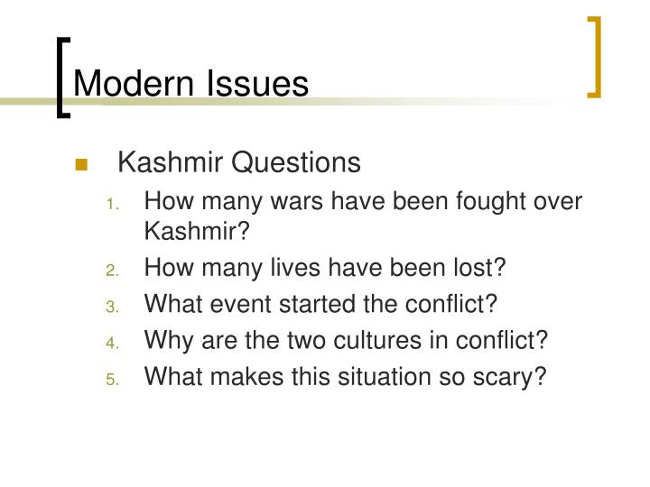 Modern Issues