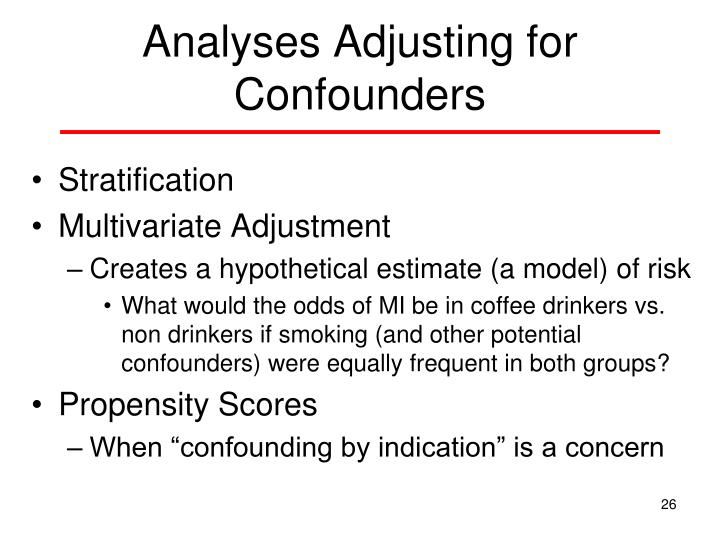 Analyses Adjusting for Confounders