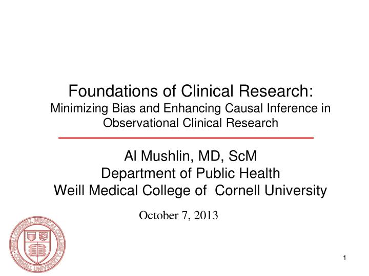 Foundations of Clinical Research: