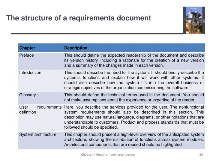The structure of a requirements