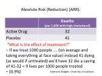 absolute risk reduction arr