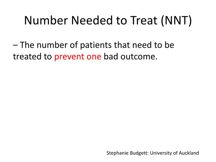 Number Needed to Treat (NNT