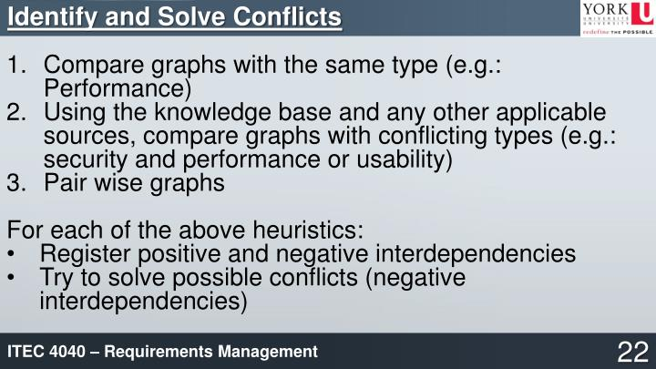 Identify and Solve Conflicts