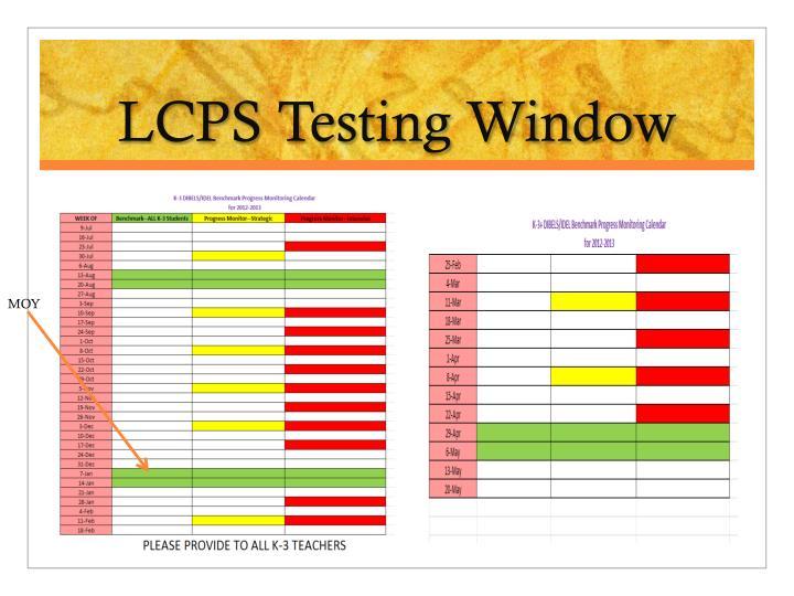 LCPS Testing Window