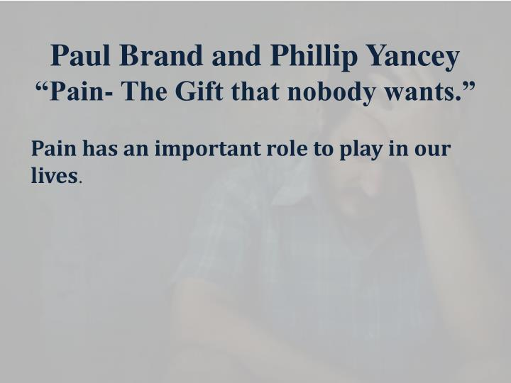 Paul Brand and Phillip