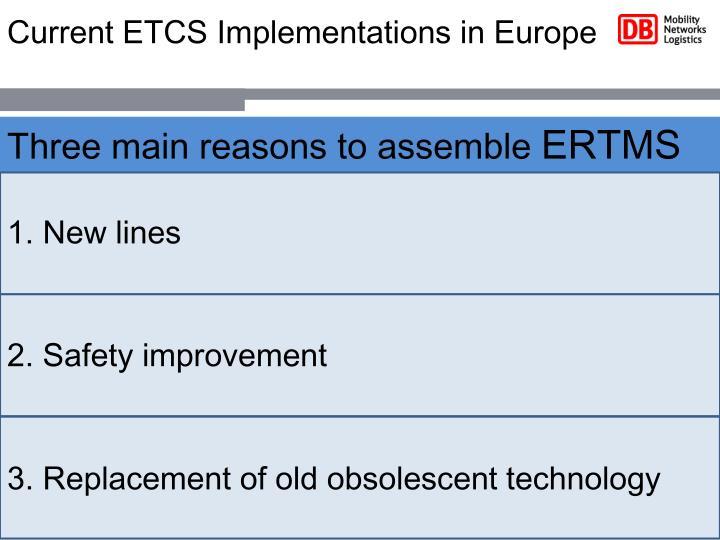 Current ETCS