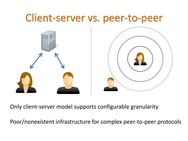 Client-server vs. peer-to-peer