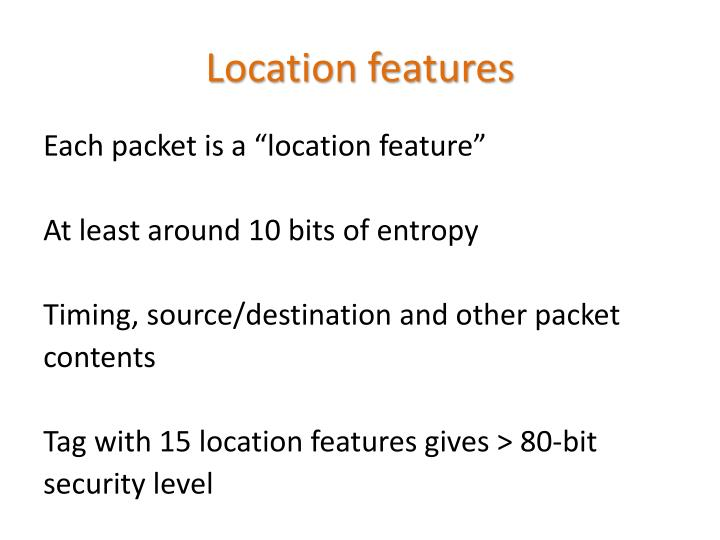 Location features