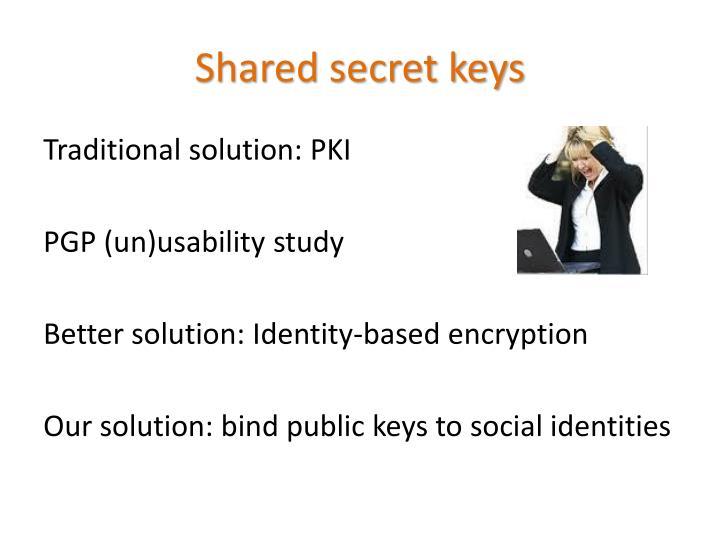 Shared secret keys