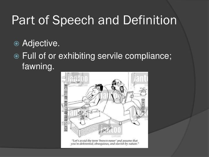 Part of speech and definition