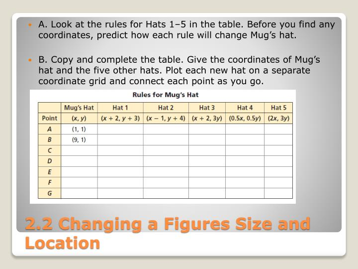 A. Look at the rules for Hats 1–5 in the table. Before you find