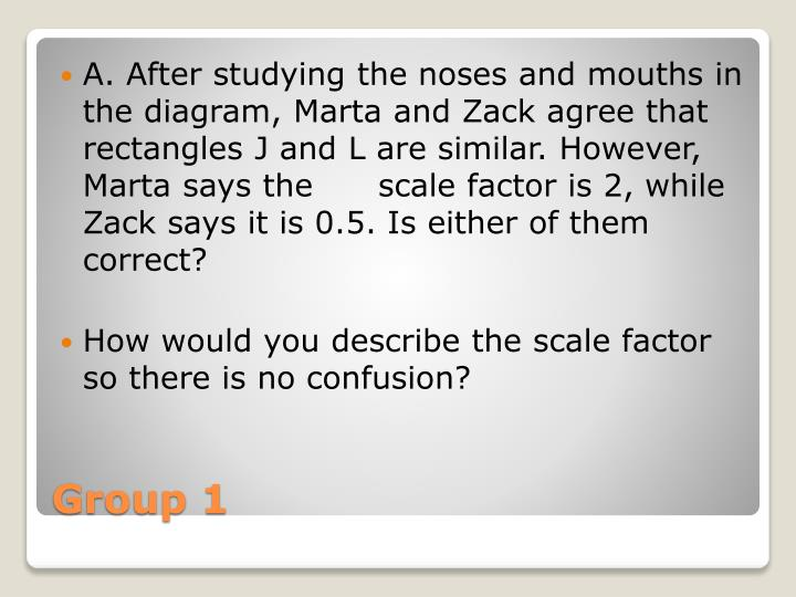 A. After studying the noses and mouths in the diagram, Marta and