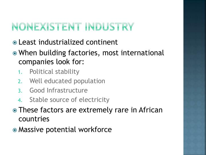Nonexistent Industry