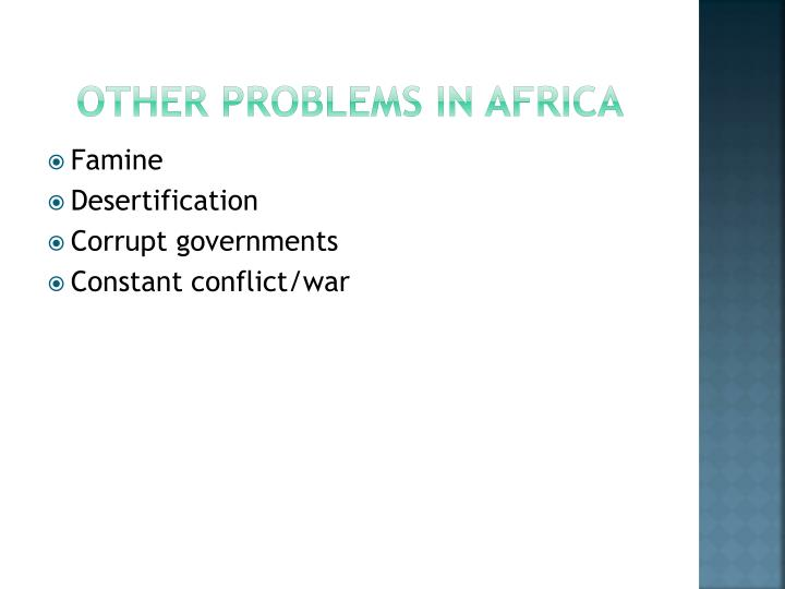 Other Problems in Africa