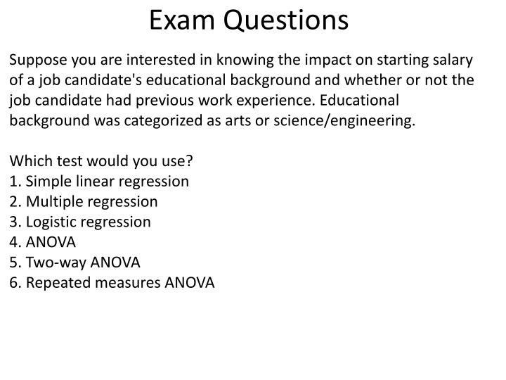 Exam Questions