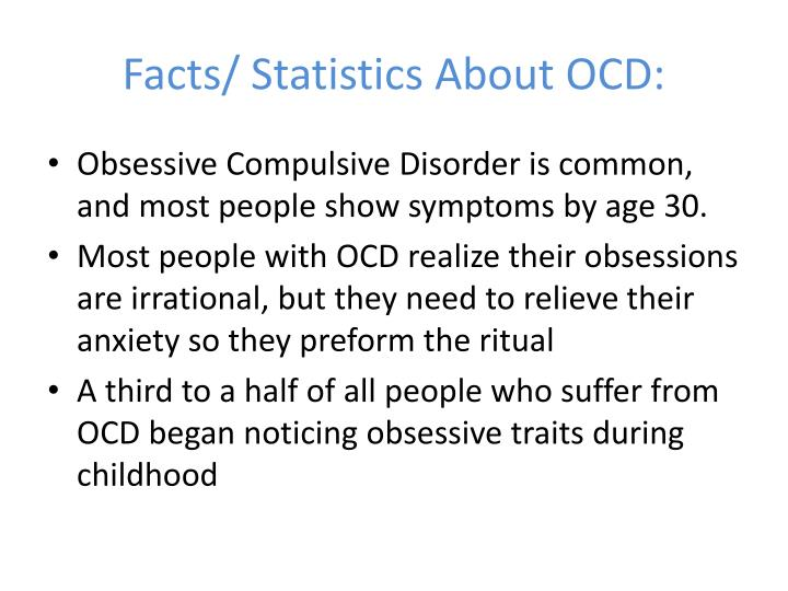 Facts/ Statistics About OCD: