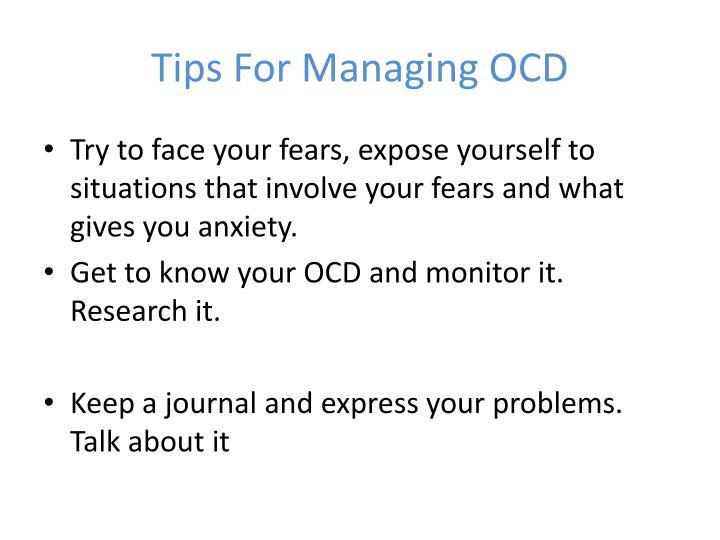Tips For Managing OCD
