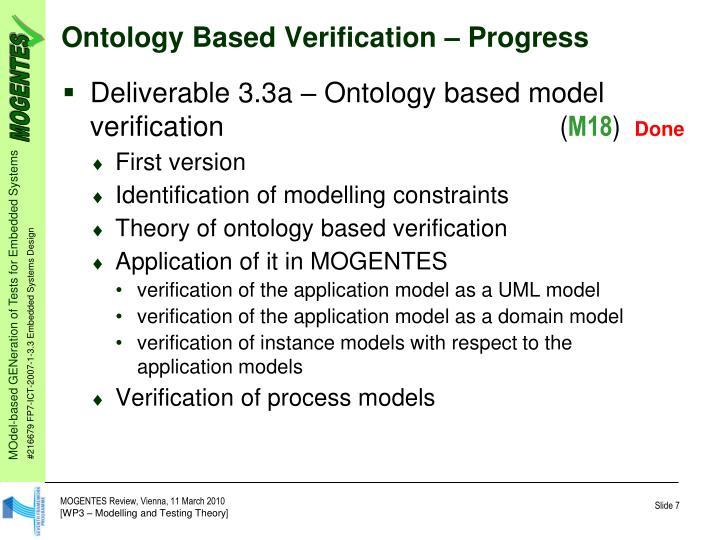 Ontology Based Verification
