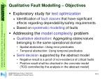 qualitative fault modelling objectives