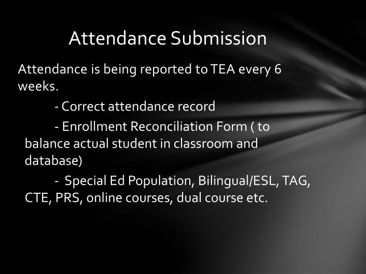 Attendance Submission