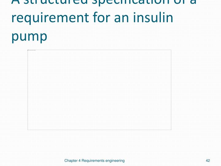A structured specification of a requirement for an insulin pump