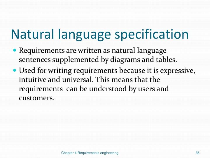 Natural language specification