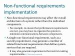 non functional requirements implementation