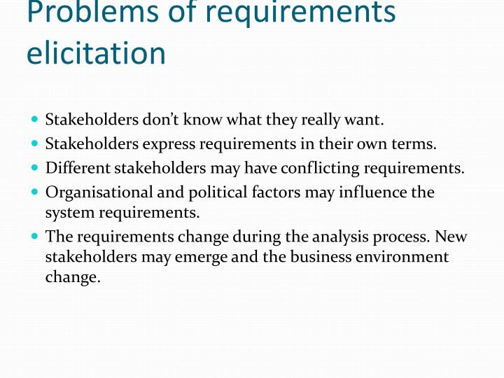 Problems of requirements