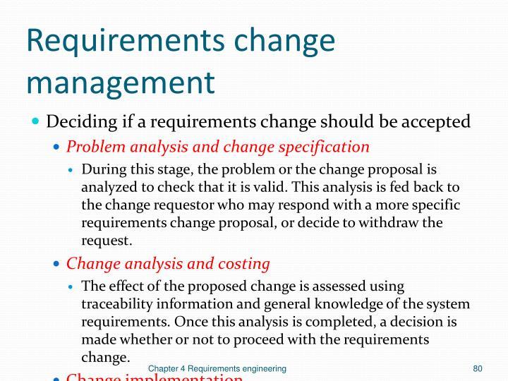 Requirements change management