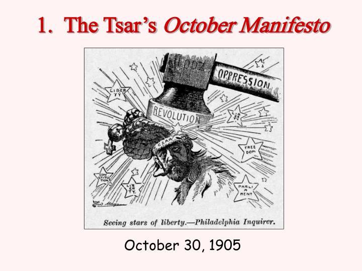 1.  The Tsar's
