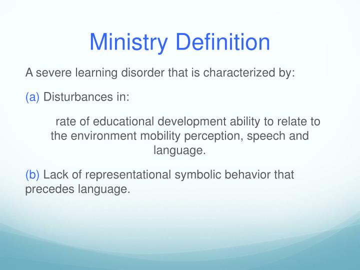 Ministry Definition