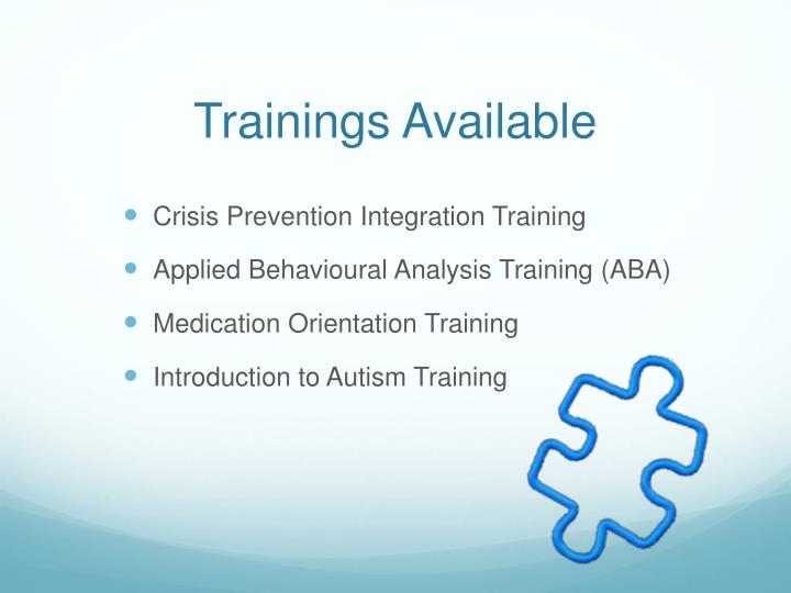 Trainings Available