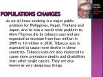 populations changes