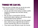 things we can do