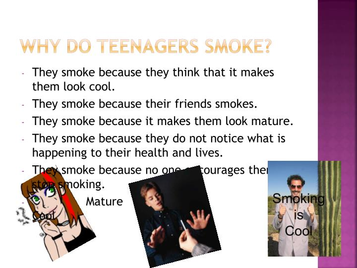 Why Do Teenagers Smoke?