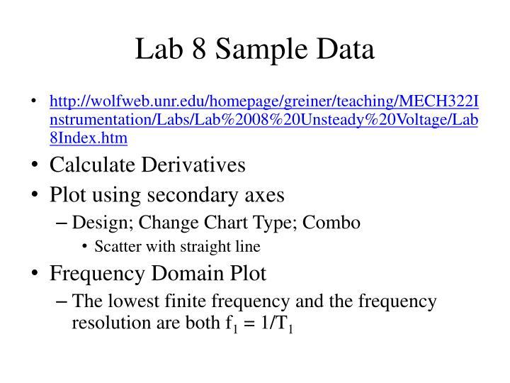 Lab 8 Sample Data