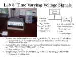 lab 8 time varying voltage signals
