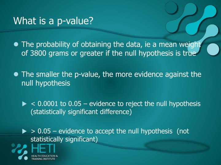 What is a p-value?